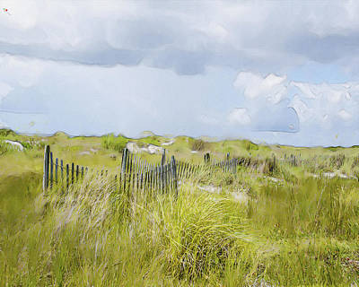 Summer On The Dunes Poster by Dave Sandt