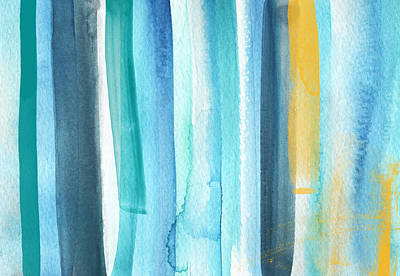 Summer Surf- Abstract Painting Poster by Linda Woods