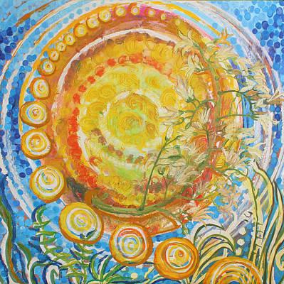 Sun Circles Poster by Melanie Rae Zero