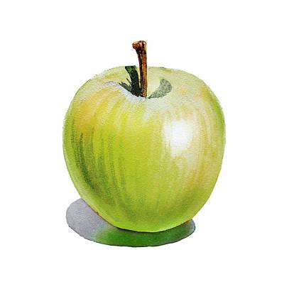 Sun Kissed Green Apple Poster by Irina Sztukowski