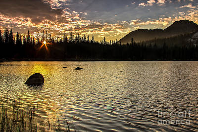 Sun Star Over The Lake Poster by Robert Bales
