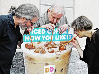 Sunday Afternoon At Dunkin Donuts 12 Poster by Sarah Loft