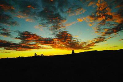 Sundown In Yellowstone Poster by Jeff Swan