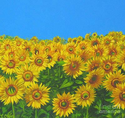 Sunflower Field Poster by Elisabeth Olver