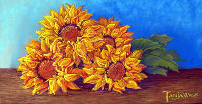 Sunflowers Of Fall Poster by Tanja Ware