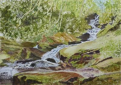 Sunlight Rocks And Water   Poster by Joel Deutsch