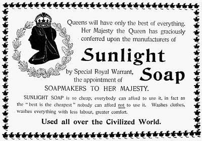 Sunlight Soap Ad, 1896 Poster by Granger