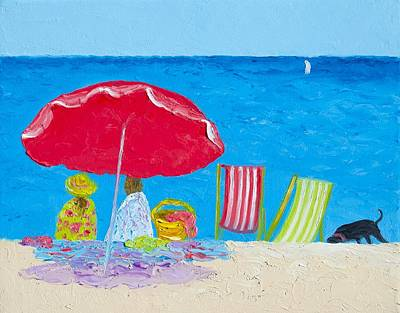 Sunny Afternoon At The Beach Poster by Jan Matson