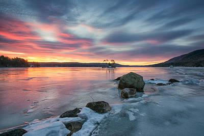 Sunrise At Moose Pond  Poster by Darylann Leonard Photography