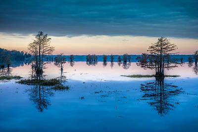 Sunrise At Steinhagen Reservoir Poster by David Morefield