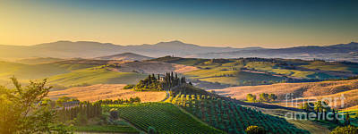 A Golden Morning In Tuscany Poster by JR Photography