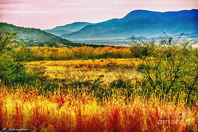 Sunrise In Verde Valley Arizona Poster by Bob and Nadine Johnston