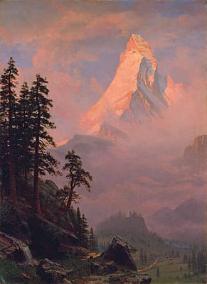 Sunrise On The Matterhorn Poster by Albert Bierstadt