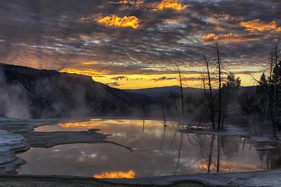 Sunrise On The Terrace Poster by Mark Kiver