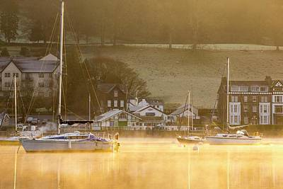 Sunrise Over Lake Windermere Poster by Ashley Cooper