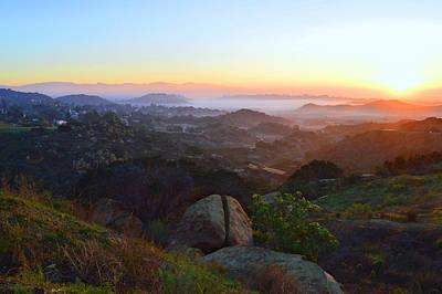Sunrise Over San Fernando Valley Poster by Glenn McCarthy