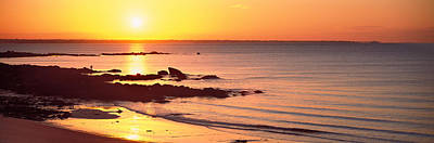 Sunrise Over The Beach, Beg Meil Poster by Panoramic Images