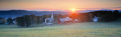 Sunrise Peacham Vt Usa Poster by Panoramic Images