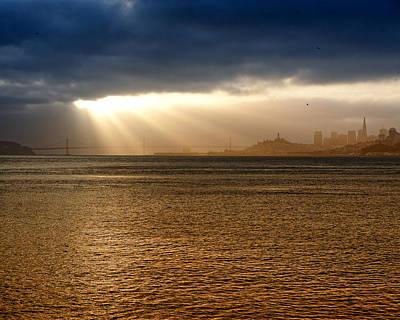 Sunrise San Francisco Bay Poster by Troy Montemayor