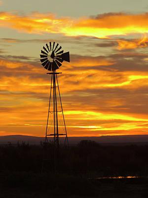 Sunrise, Windmill, Cimarron, New Poster by Maresa Pryor