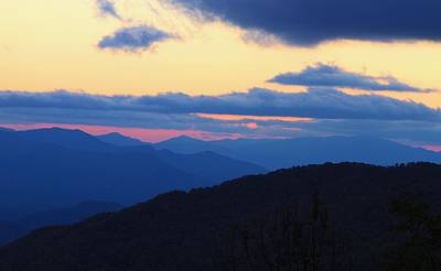 Sunset At Blue Ridge Parkway In North Carolina Poster by Dan Sproul