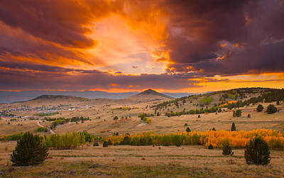 Sunset At Cripple Creek Overlook Poster by Tim Reaves