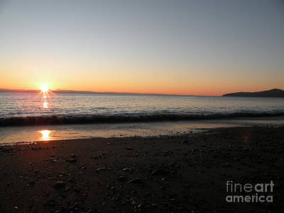 Sunset At Gordons Beach Poster by Val Carosella