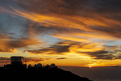 Sunset At Haleakala Poster by Francesco Emanuele Carucci