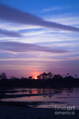 Sunset At Malibu Beach Lagoon Estuary Fine Art Photograph Print Poster by Jerry Cowart