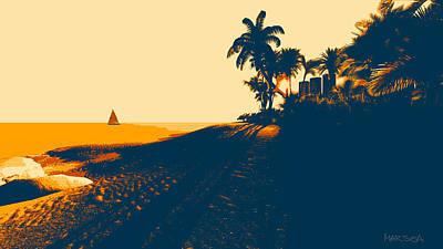 Sunset Beach Poster by Marina Likholat