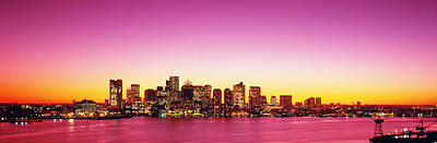 Sunset, Boston, Massachusetts, Usa Poster by Panoramic Images