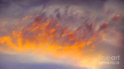 Sunset Cloud-1 Poster by Alan Thwaites