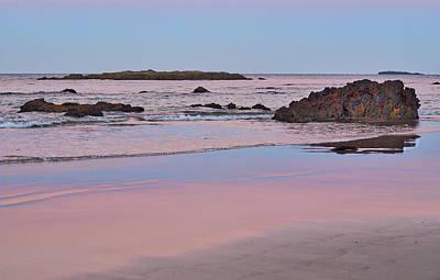 Sunset - Denhams Beach - Australia Poster by Steven Ralser