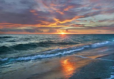 Sunset Gulf Islands National Seashore Poster by Tim Fitzharris