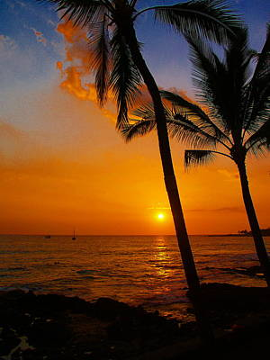 Sunset In Paradise Poster by Athala Carole Bruckner