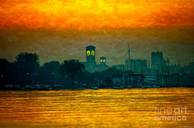 Sunset On Milwaukee's South Side  Poster by Mary Machare
