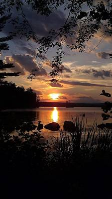 Sunset On Sebago 2 Poster by Donnie Freeman