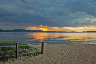 Sunset On South Bay, Lake Superior Poster by Panoramic Images