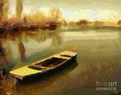Sunset On The River Poster by Dragica  Micki Fortuna