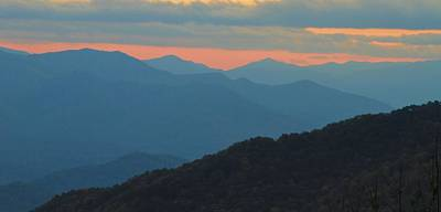 Sunset Over Blue Ridge Asheville North Carolina Poster by Dan Sproul