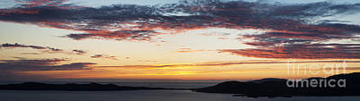 Sunset Over Isle Of Harris Scotland Poster by Tim Gainey