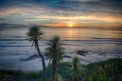 Sunset Over Swamis - Encinitas - California Poster by Bruce Friedman