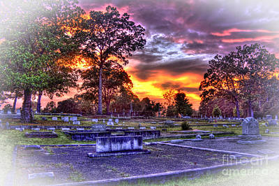 Sunset Over The Callaway Family Plot Poster by Reid Callaway