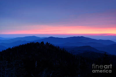 Sunset Over The Great Smoky Mountains Poster by Glenn Morimoto