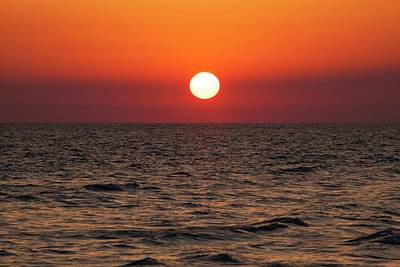 Sunset Over The Ocean Poster by Jim Edds