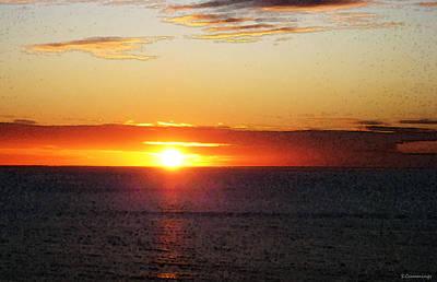 Sunset Painting - Orange Glow Poster by Sharon Cummings