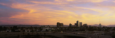 Sunset Skyline Phoenix Az Usa Poster by Panoramic Images