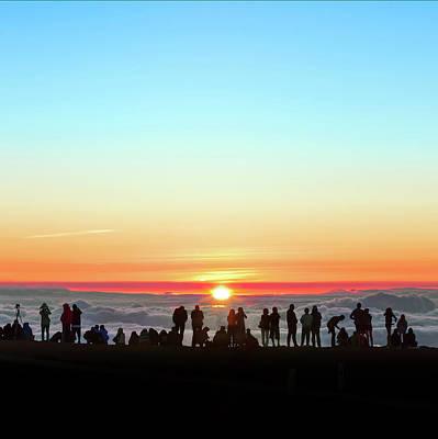 Sunset Tourism On Haleakala Poster by Babak Tafreshi