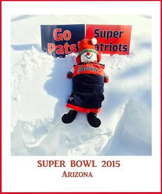 Super Bowl  Arizona 2015 Poster by Caroline Stella