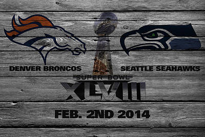 Super Bowl Xlviii Poster by Joe Hamilton